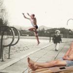 Having fun by the pool