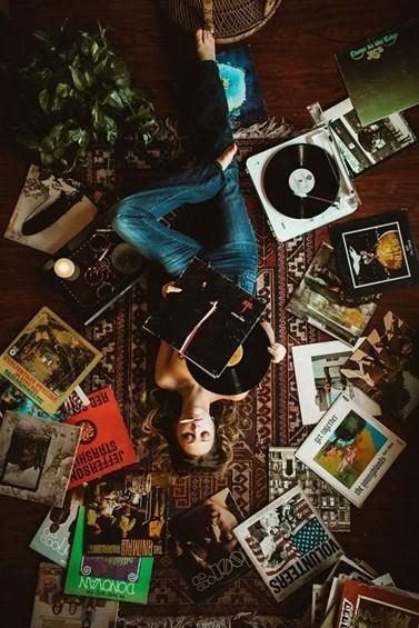 The beauty of vinyl records
